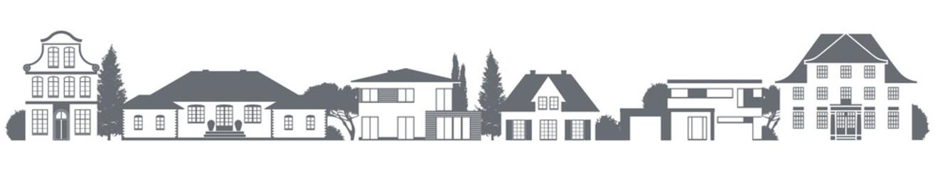 Verschiedene Häuser