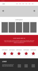 Modern web design. Vector website template