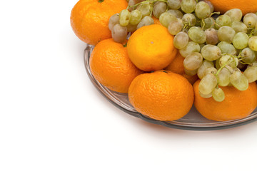 fruit on the white background
