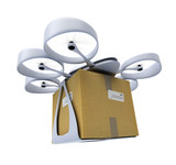 Commercial drone with box - 75696691