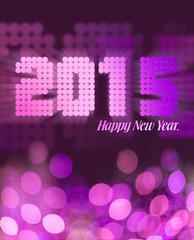 Pink glitter 2015 greeting