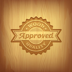 Wood carving text approved design