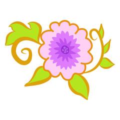 flower isolated illustration