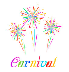 Sketch abstract colorful exploding firework for Carnival party