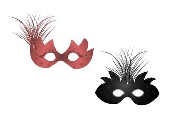 Realistic illustration of carnival masks