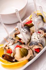 Pickled spicy herring