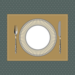Table setting in classic style 1