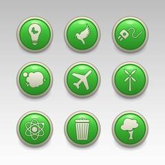 Green eco icons 2