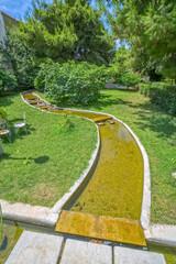 Stream in small park