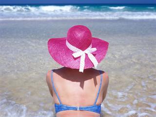 woman on the beach, Fuerteventura, Canary Islands, Spain
