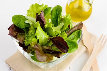 Salad, selective focus