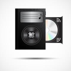 Audiobooks vector design ebook