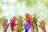 Fototapety Bemalte Kinderhände