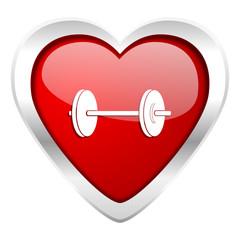 fitness valentine icon