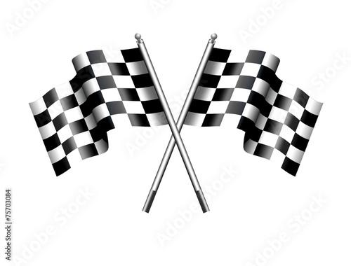 Zdjęcia na płótnie, fototapety, obrazy : Chequered Checkered Flag Motor Racing