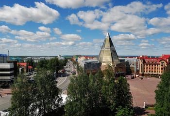KHANTY-MANSIYSK, RUSSIA – JUNE 30, 2014: general view of city