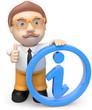Business man mit Infosymbol