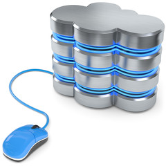 Cloud Datenserver Computermaus