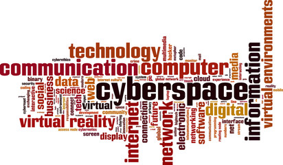 Cyberspace word cloud concept. Vector illustration