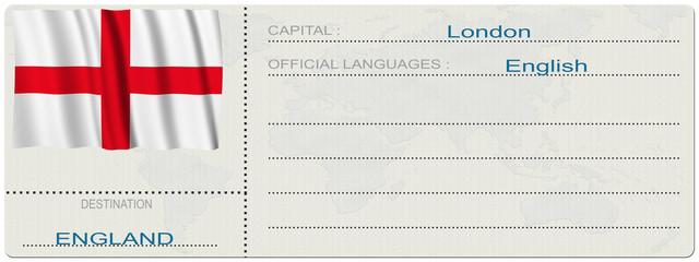 Biglietto Destinazione_England
