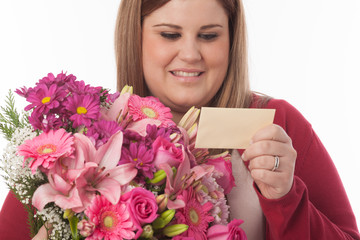 Flowers with card