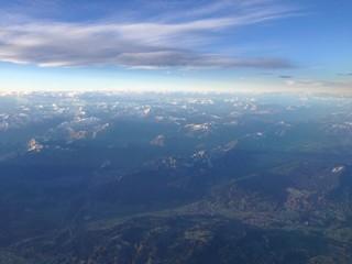 panoramica dall'aereo