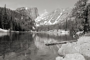 Colorado mountains - black and white