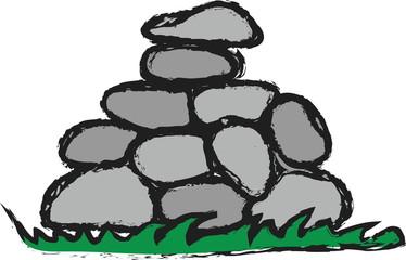 cartoon pile stones