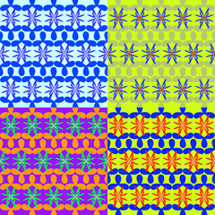Seamless vector patterns of geometric shapes
