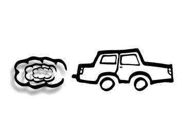 Auto - PKW - Dieselpartikel