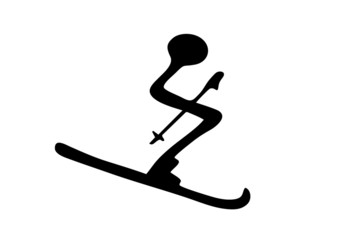 Skifahrer...