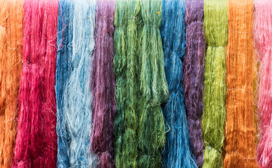 Colorful Silk Thread Texture Background