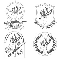 sport hunting deer logos