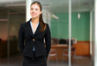 Smiling female receptionist