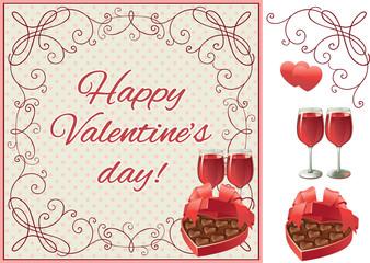 Happy  valentine's day! Vector set