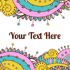 Vector hand draw ethnic background