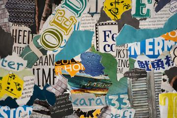 Sfeerblad van allemaal stukjes tijdschriften