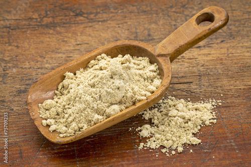 Canvas Granen scoop of rice bran