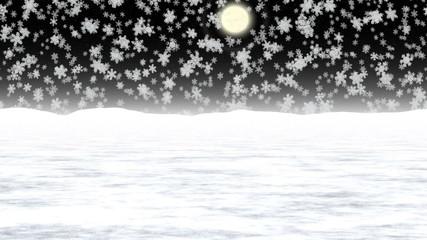 Snowy landscape generated seamless loop video