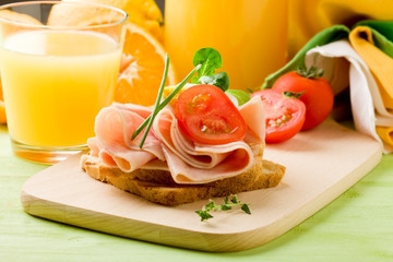 Delicious Toast and Orange Juice