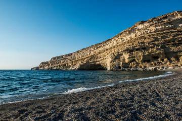 Beach in Matala