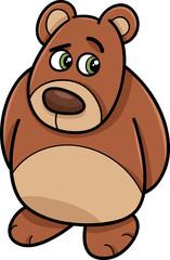 shy bear animal cartoon illustration