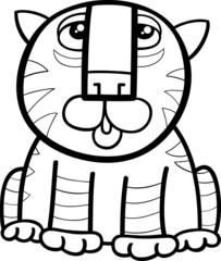 tiger animal cartoon coloring page