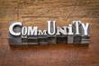 community in metal type