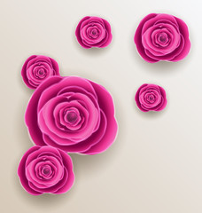 Cutout flowers - beautiful roses, paper craft