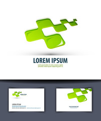 Business. Logo, icon, emblema, sign, template, business card