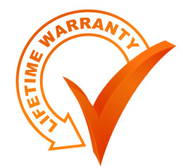 lifetime warranty symbol validated orange