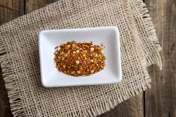 ground cayenne pepper in bowl