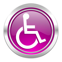 wheelchair violet icon