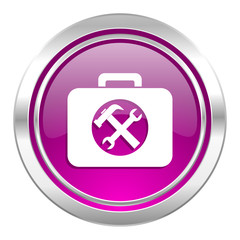 toolkit violet icon service sign